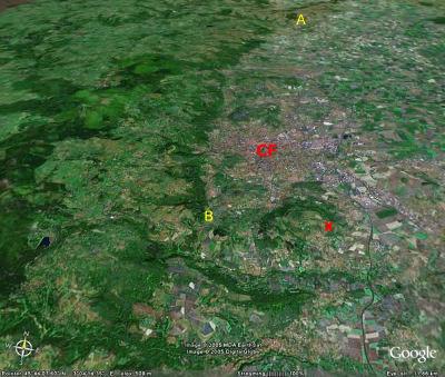 Vue de la région de Clermont-Ferrand (CF)