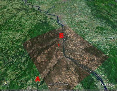 Localisation de l'affleurement de marne jurassique de la Voûlte sur Rhône (07)