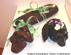 Homo erectus et Australopithèque... en chocolat