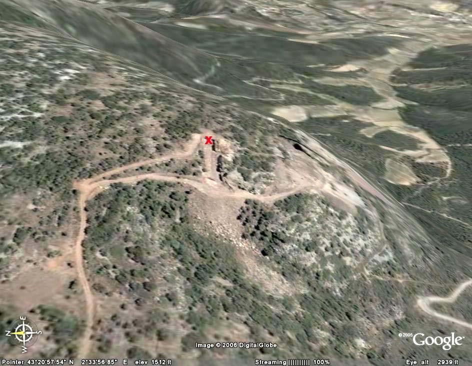 Localisation de la carrière de Félines Minervois (Hérault) avec Google Earth