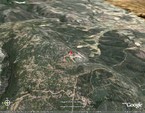 Localisation du versant sud de la Montagne Noire
