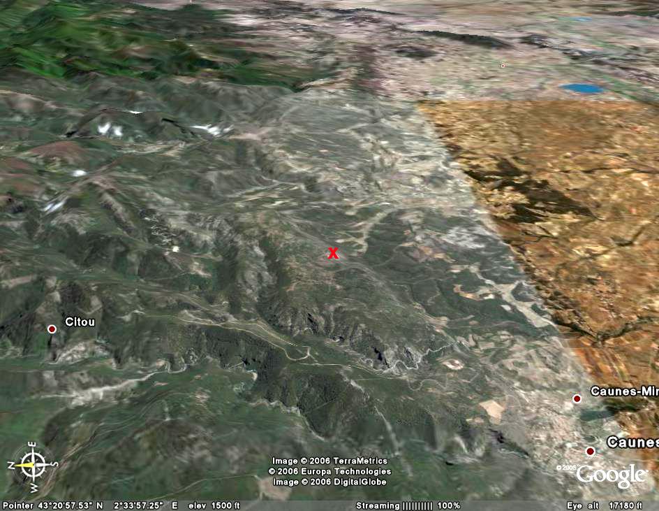 Vue plus générale de la Montagne Noire
