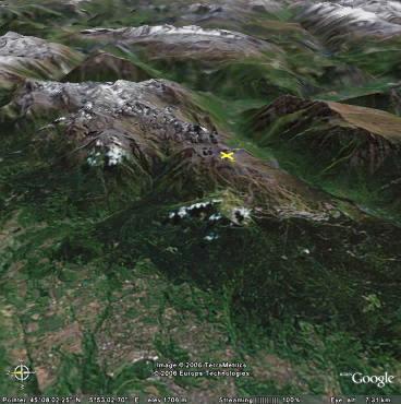 Vue de la zone de la chaîne de Belledonne où se situe Chamrousse