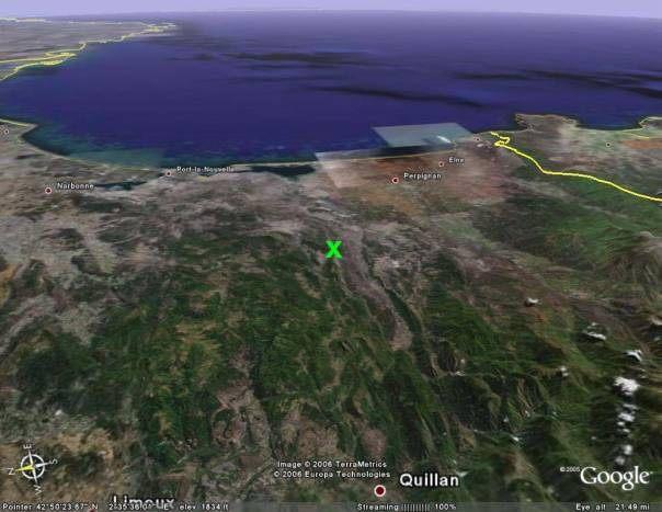 Le site de Cucugnan (croix verte)