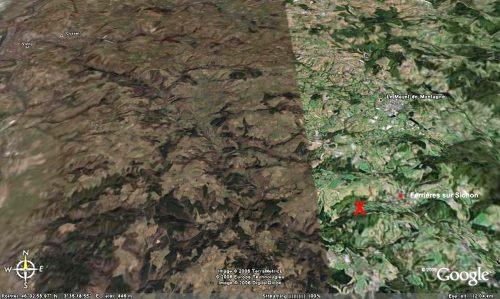 Localisation du site de prélèvement du méta-conglomérat de de Ferrières sur Sichon (Allier) des figures 6 et 7