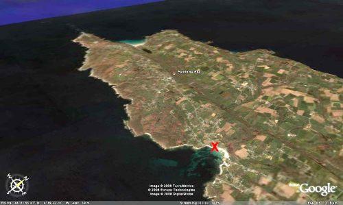 Localisation du site de prélèvement des galets du méta-conglomérat des figures 9 et 10