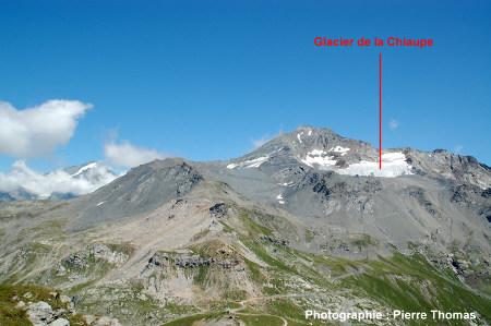 Cadre du glacier de la Chiaupe