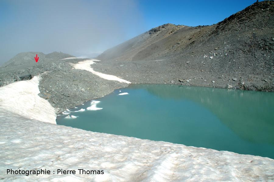 Le glacier, 1er août 2006 pour référence