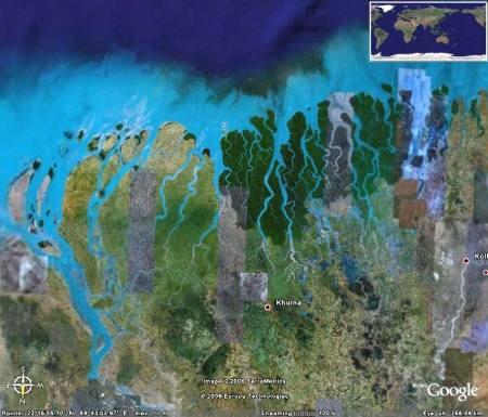 Partie occidentale du delta du Gange