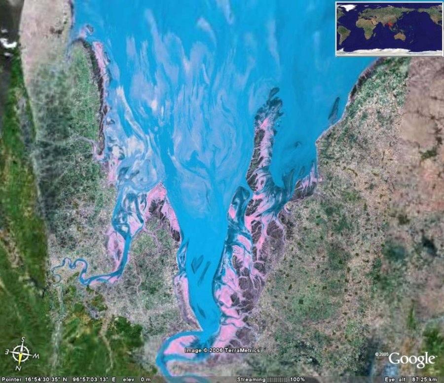Delta sous-marin de l'Irrawady