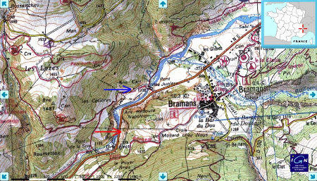 Localisation des affleurements étudiés, Maurienne, Alpes
