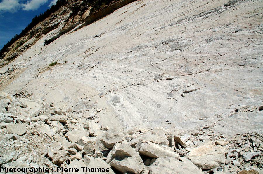 Une vue générale montrant boudins et litages, Bramans (73)