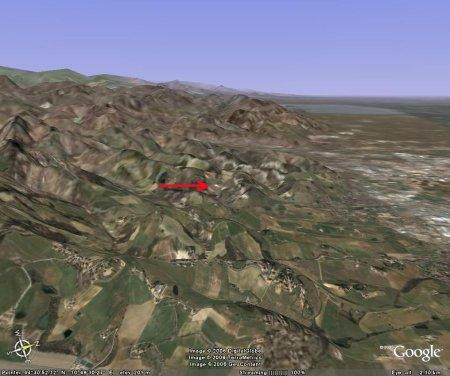 Contexte topographico-géologique des volcans de boue de Nirano (Emilie-Romagne, Italie)
