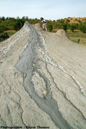 La coulée Sud du volcan de boue n° 3, Nirano (Italie)