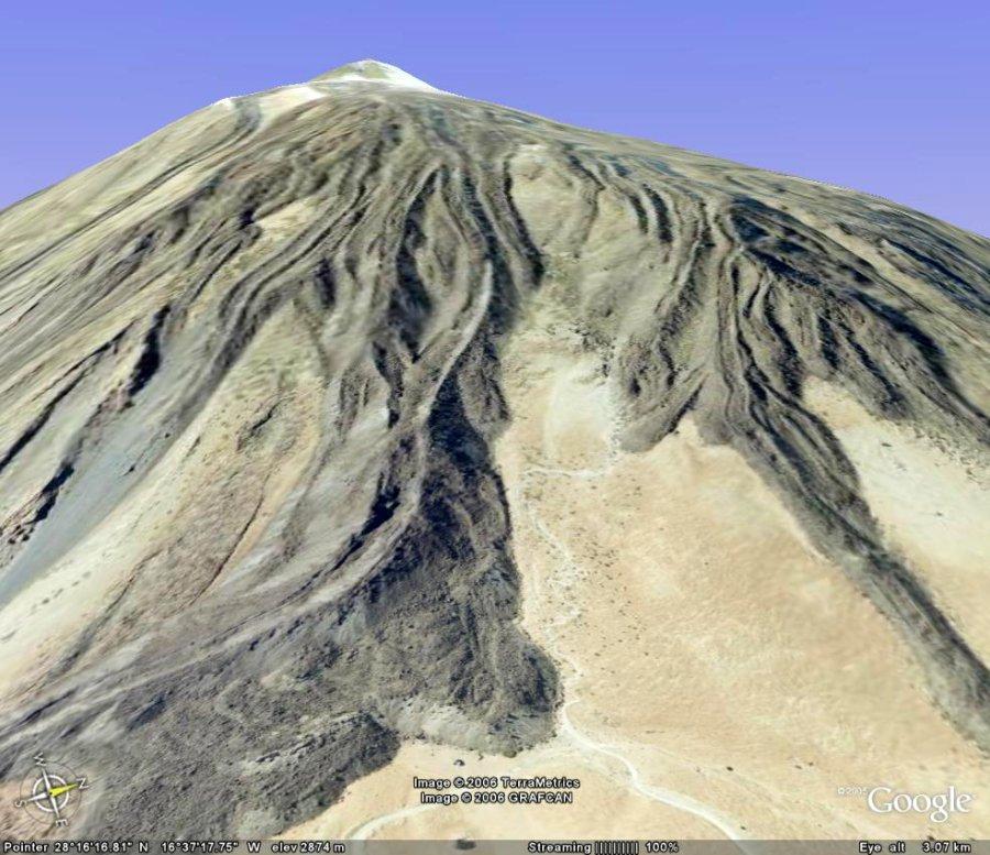Vue du flanc E du Teide