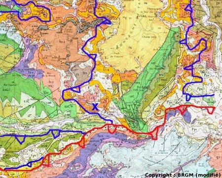 Interprétation structurale rapide de l'extrait de carte géologique de Tuchan