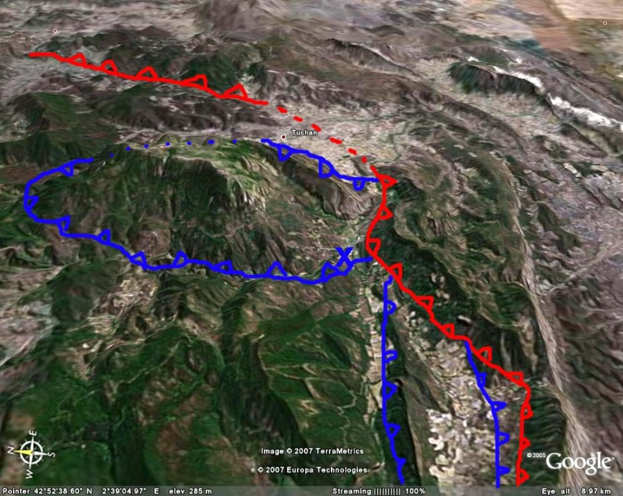 Interprétation structurale rapide d'une image Google Earth du secteur, Padern (11)