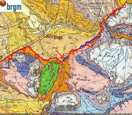 Interprétation structurale rapide de la carte géologique de Capendu