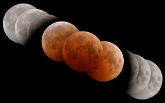 Montage réalisé lors de l'éclipse du 27 octobre 2004