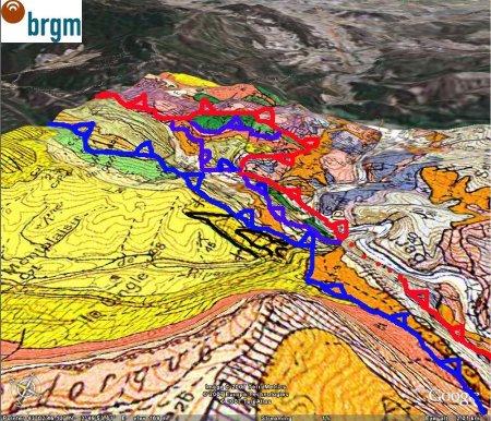 Interprétation structurale schématique de la région de Ripaud (11)