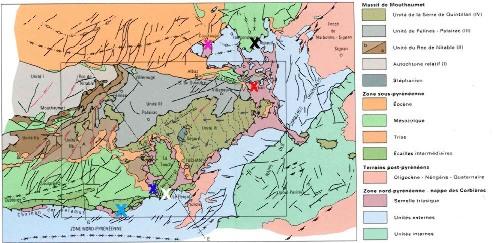 Schéma structural de la région des Corbières (BRGM)