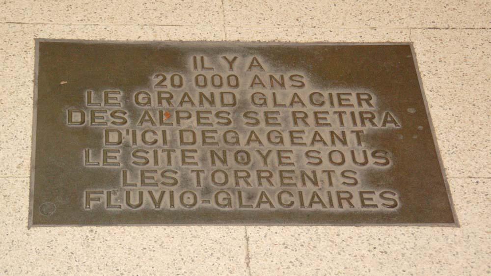 Une autre plaque rappelant la glaciation du Wurm