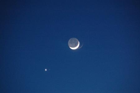 Conjonction Lune-Vénus du 19 février 2007