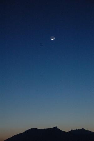 La conjonction Lune-Vénus du 19 février 2007, zoom léger