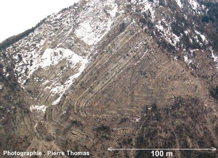 Le célèbre pli de St Clément (Hautes Alpes)