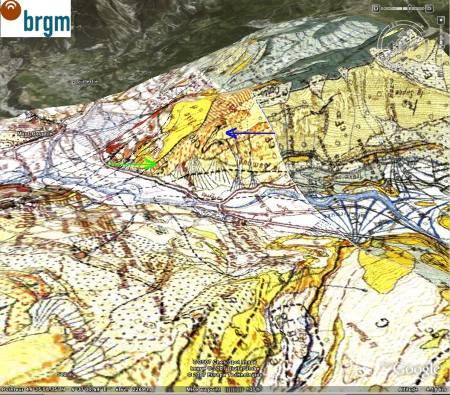 Carte géologique 3D du site du pli de St Clément