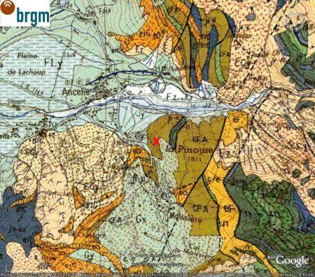 Extrait de la carte géologique de Chorges (BRGM)