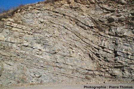 Faille inverse «complexe» dans la nappe des flyschs à helmintoïdes, Ancelle, D213, Hautes Alpes