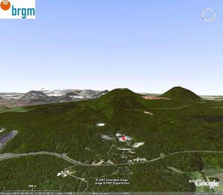 Localisation de la carrière du Puy de la Nugère (63)