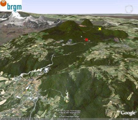 Localisation du secteur de Volvic (Puy de Dôme)