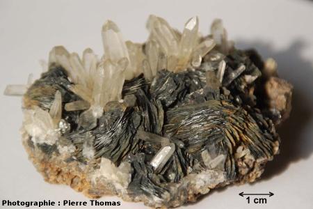 Cristaux d'hématite et de quartz, région de Vizille (Isère)