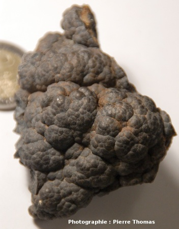 Hématite à surface mamelonnée, carrière de la Bosse, Échassières (Allier)