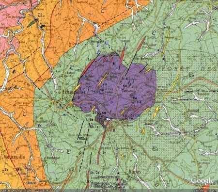 Carte géologique du secteur d'Échassières (03)