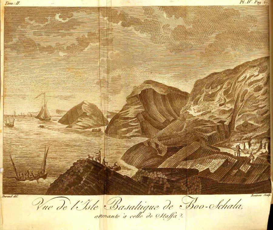 B. Faujas-Saint-Fond: paysage volcanique des Hébrides, en Écosse