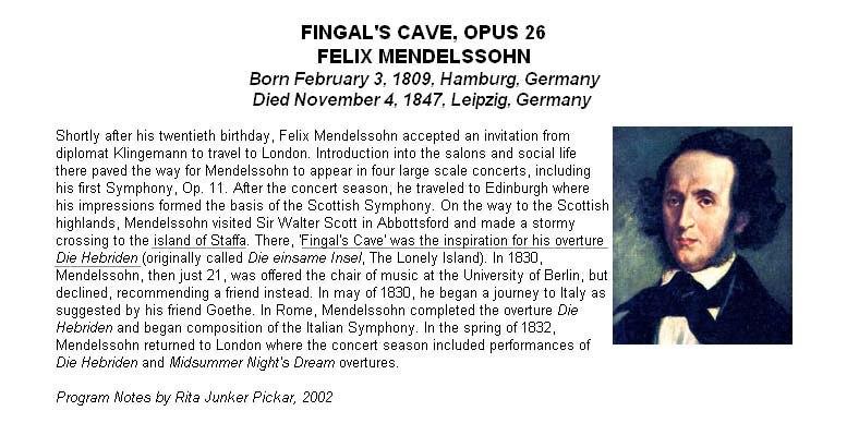 «La grotte de Fingal» de Felix Mendelssohn