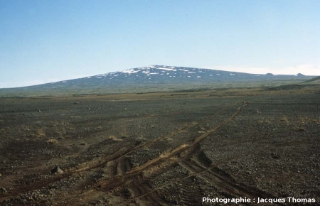 Exemple d'un volcan bouclier islandais