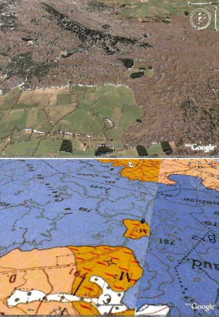 Détail de la partie centrale de la coulée du Puy de Côme (vue vers le sud)