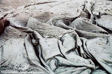 Cordes et draperies, coulée du Pu'u O'o,Hawaii