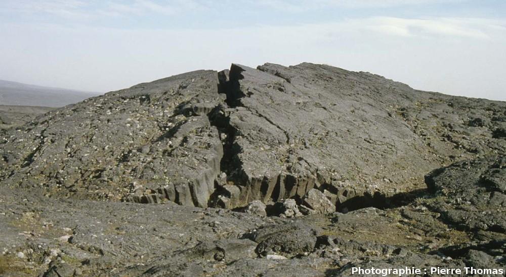 Ride de pression, champs de lave d'Askjia, Islande