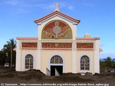 L'église de Piton Sainte Rose (île de La Réunion) aujourd'hui
