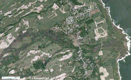 Vue aérienne de Piton Sainte Rose