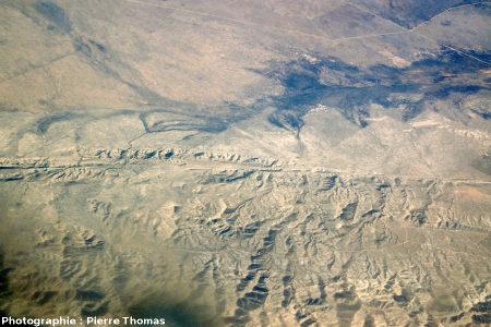 Vue aérienne de la faille de San Andrea dans le Carrizo Plain National Monument (Californie, USA), 400km au Nord-Ouest de Los Angeles