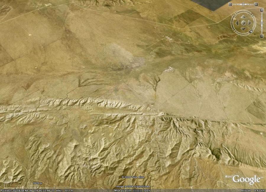 Vue de la faille de San Andrea (Californie, USA)
