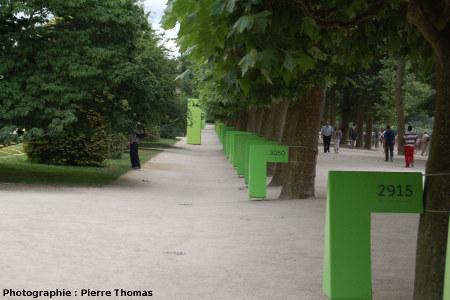 L'allée du temps, au Jardin des Plantes, quelque part dans l'Archéen