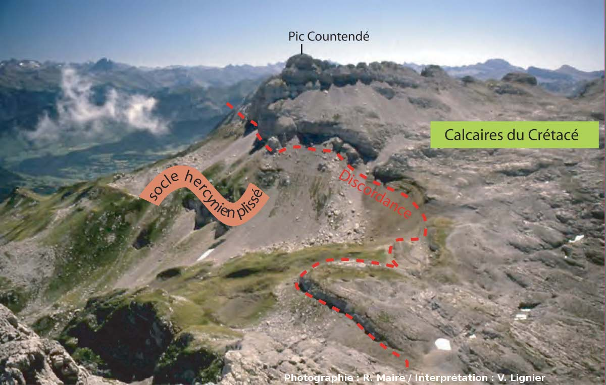 Panorama sur le Pic de Countendé depuis le Pic du Soum Couy
