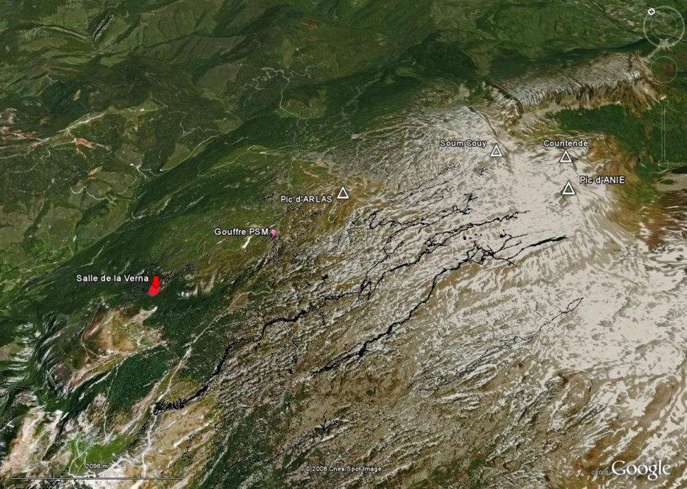 Vue d'ensemble du massif de la Pierre Saint Martin